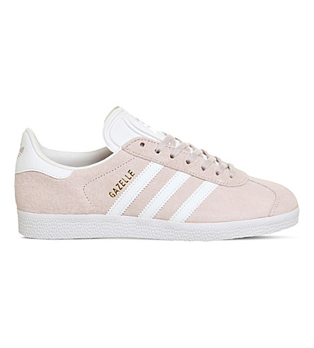 ADIDAS Gazelle lace-up suede sneakers (Ice+purple+white