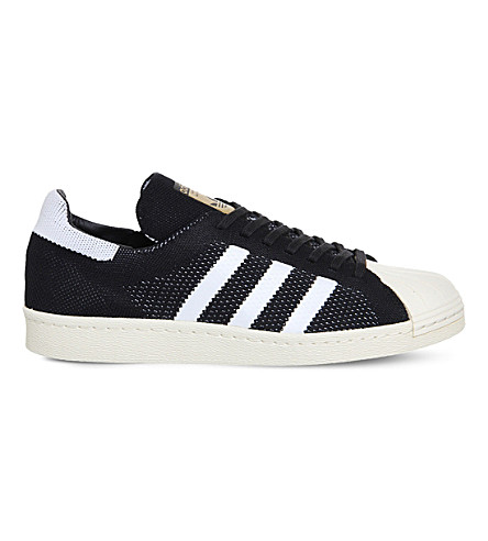 ADIDAS Superstar 80s mesh sneakers (Black+white+prime+kn