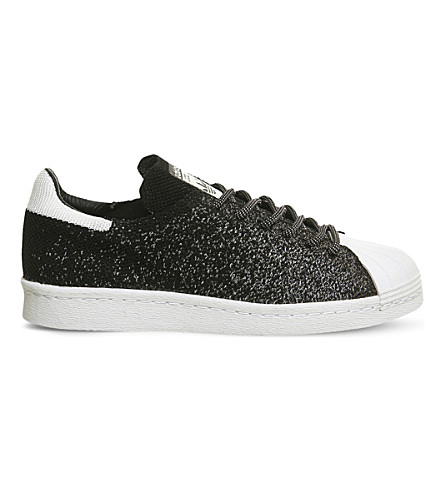 ADIDAS Superstar 80s primeknit trainers (Black crystal white