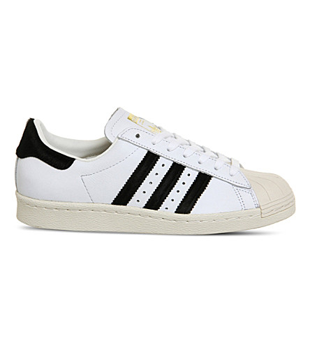 ADIDAS Superstar 80s leather shell-toe trainers
