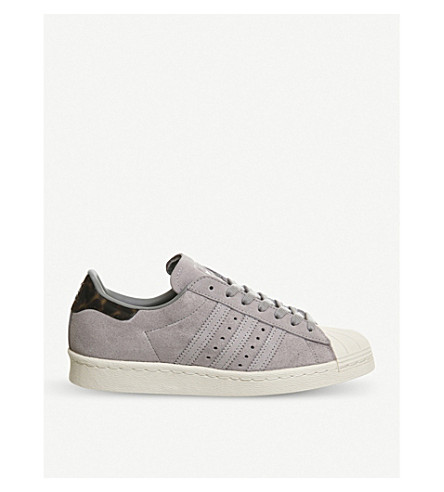ADIDAS Superstar 80s suede trainers (Mid+grey+three+grey