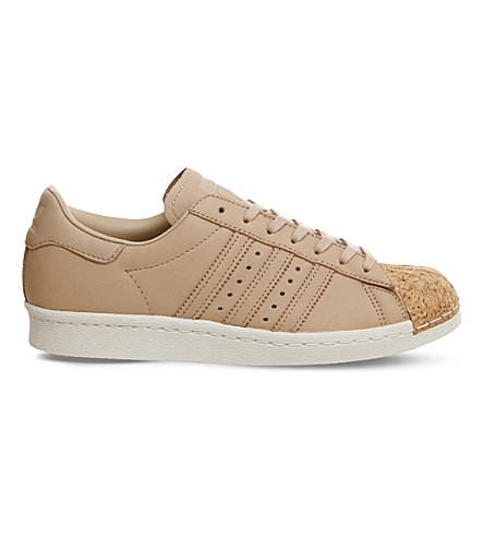ADIDAS Superstar 80s leather trainers (Pale nude cork toe