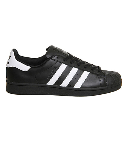 ADIDAS Superstar 1 leather trainers (Black+white