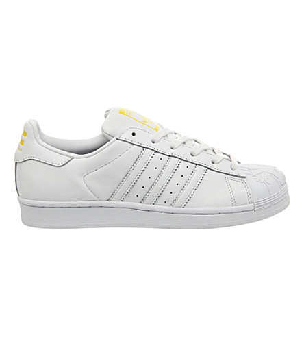 ADIDAS Todd James Superstar Supershell trainers (White mono shelltoe