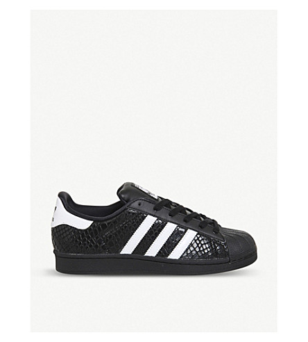 ADIDAS Superstar leather trainers (Black white snake