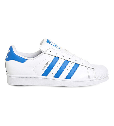 ADIDAS Superstar 1 leather trainers (White blue
