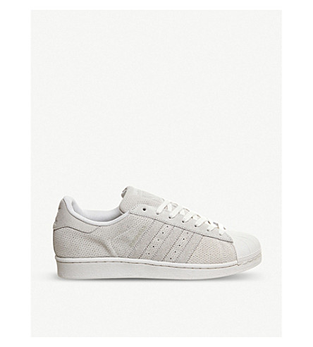 ADIDAS Superstar 1 suede trainers (Chalk white