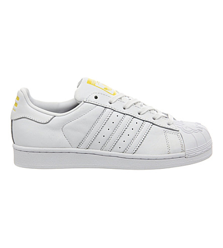 ADIDAS Pharrell Mr. Superstar Supershell leather trainers (White mono shell toe