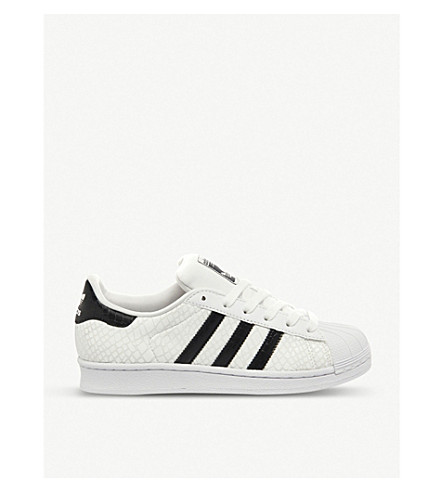 ADIDAS Superstar leather trainers (White black snake