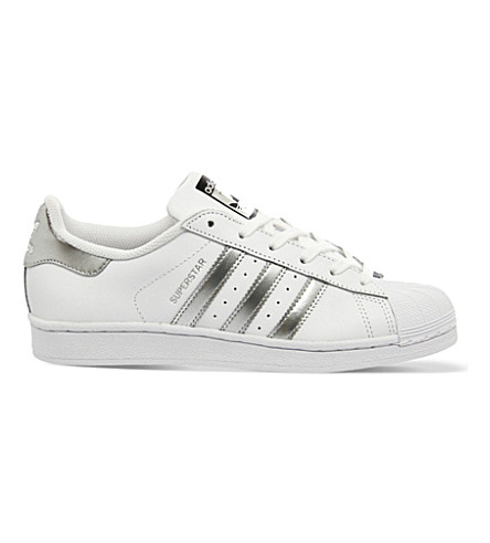 ADIDAS Superstar 1 leather trainers (White+silver+black