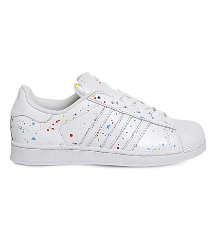 ADIDAS Superstar 1 leather trainers (Paint splash