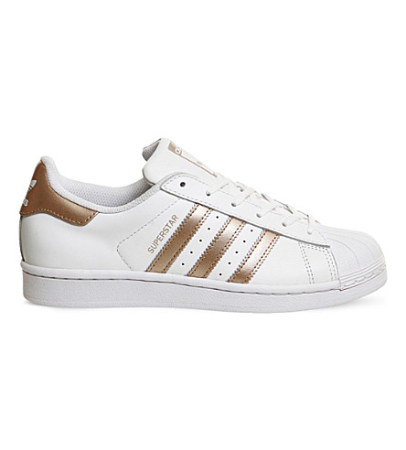 ADIDAS Superstar 1 leather sneakers (White+copper