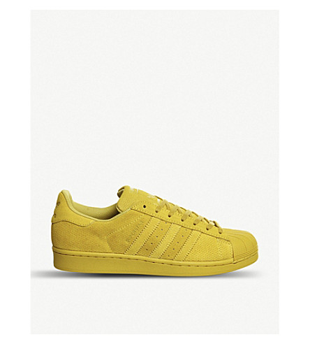 ADIDAS Superstar 1 suede trainers (Yellow mono