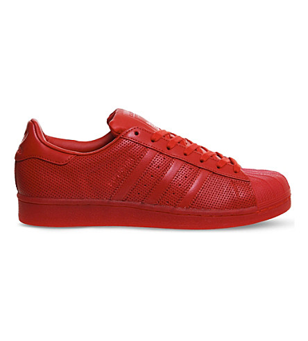 ADIDAS Superstar 1 leather trainers (Scarlet