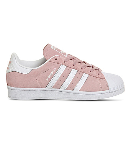 ADIDAS Superstar 1 suede trainers (Pink white snake
