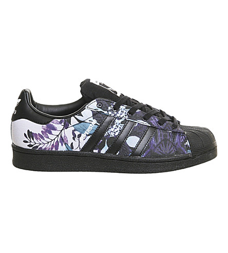 ADIDAS Superstar 1 trainers (Black floral print