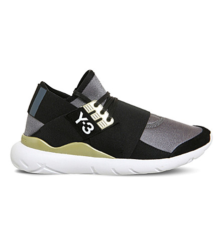 401024b481f81 ADIDAS Y3 Qasa Elle lace trainers (Night+metallic+black