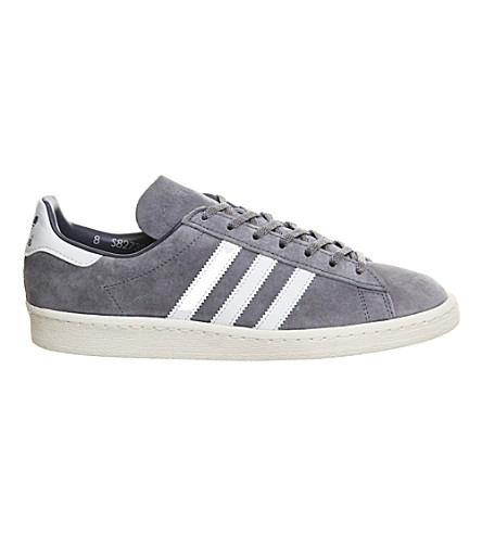 ADIDAS Campus 80's suede trainers (Grey white vintage