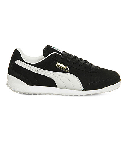 PUMA Trimm Quick suede and leather trainers (Black+waxed+nubuck