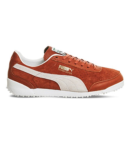 PUMA Trimm Quick suede and leather trainers