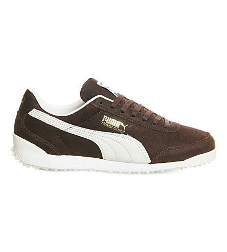 PUMA Trimm Quick suede and leather trainers (Coffee+waxed+nubuck