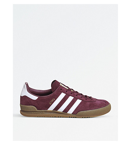 ADIDAS Jeans suede trainers (Maroon+white