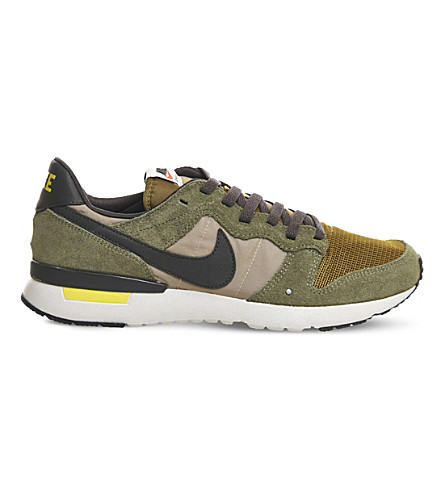 NIKE Archive 83 suede and mesh trainers (Medium+olive