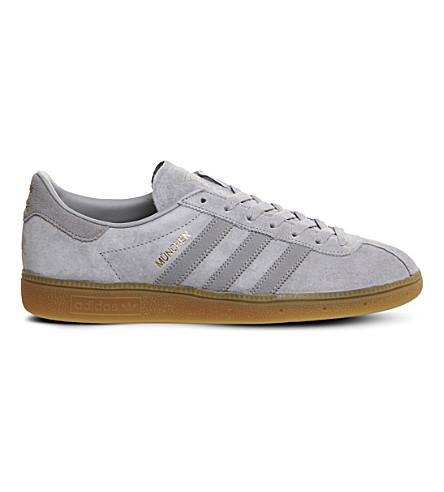 ADIDAS Munchen suede trainers (Solid+grey+gum