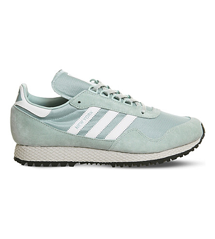 ADIDAS New York mesh and nubuck trainers (Tactile+green+white