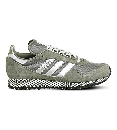 ADIDAS New York mesh and nubuck trainers (Trace+cargo+silver
