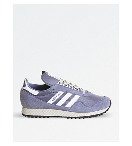 ADIDAS New York mesh and nubuck trainers (Super+purple+white