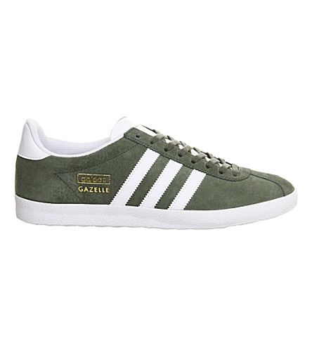 ADIDAS Gazelle OG suede trainers (Green white met gold
