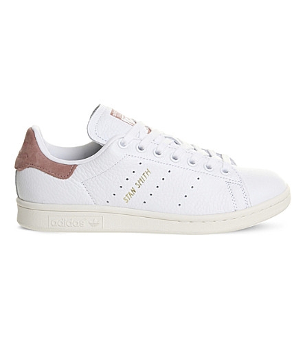 ADIDAS Stan Smith leather trainers (White+pink