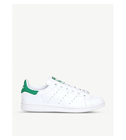 ADIDAS Stan Smith leather trainers (Core+white+green