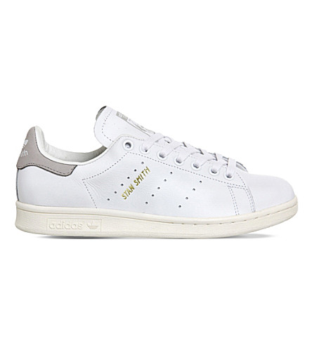 ADIDAS Stan Smith leather trainers (Premium+white+grey