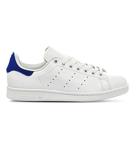 ADIDAS Stan smith leather low-top trainers (White blue pony