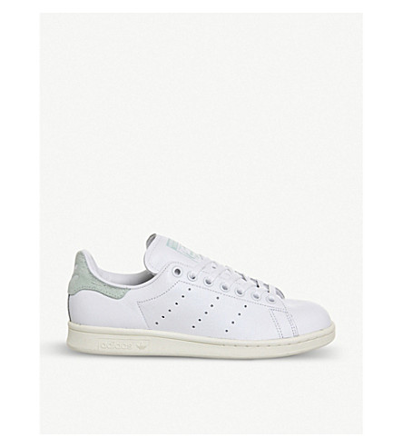 ADIDAS Stan Smith leather trainers (White vapour green w