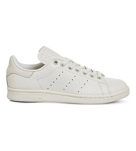 ADIDAS Stan smith leather sneakers (Off+white+textured