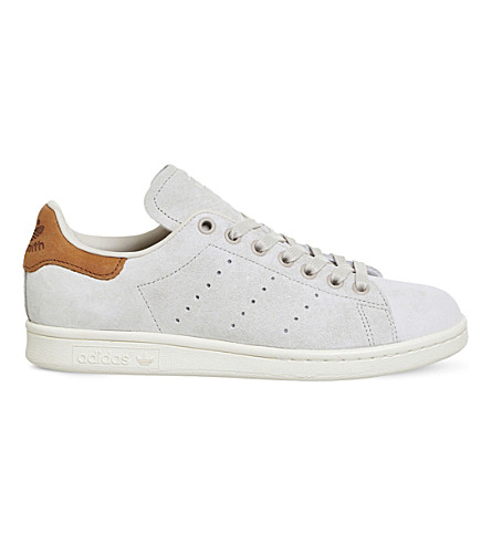 ADIDAS Stan Smith low-top nubuck trainers (Off+white+brown