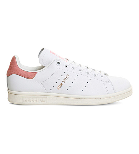 ADIDAS Stan Smith leather trainers (White+ray+pink+rose