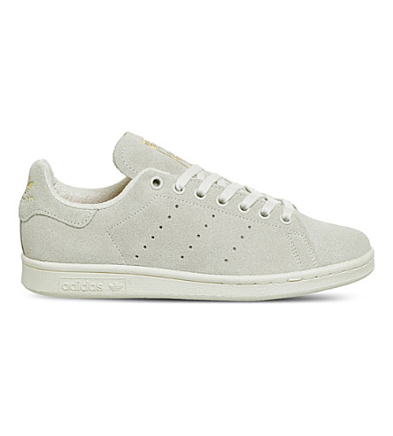 ADIDAS Stan Smith suede trainers (Chalk+white+gold