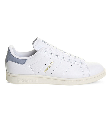 ADIDAS Stan Smith leather trainers (White+tactile+blue