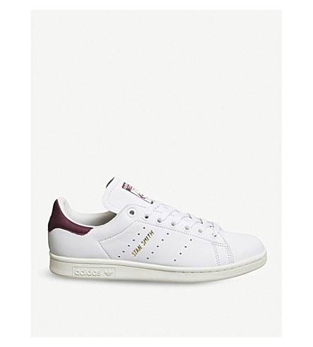 ADIDAS Stan Smith leather trainers (White+burgundy