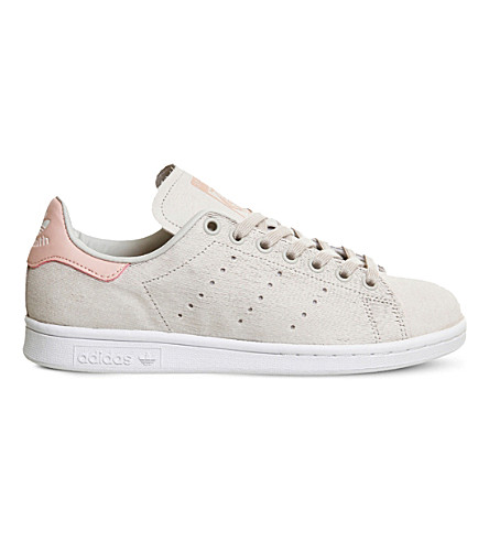 ADIDAS Stan Smith textured trainers (Pearl grey pink w
