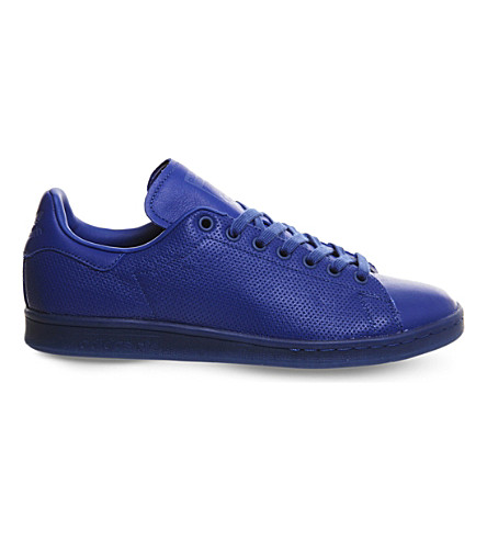 ADIDAS Perforated leather Stan Smith trainers (Blue