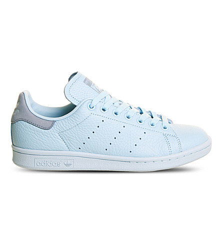 ADIDAS Stan Smith leather trainers (Icey+blue+mono