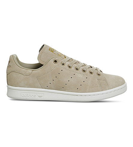 ADIDAS Stan Smith suede trainers (Linen+khaki+suede