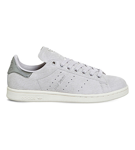 ADIDAS Stan Smith suede trainers (Ice+purple+silver