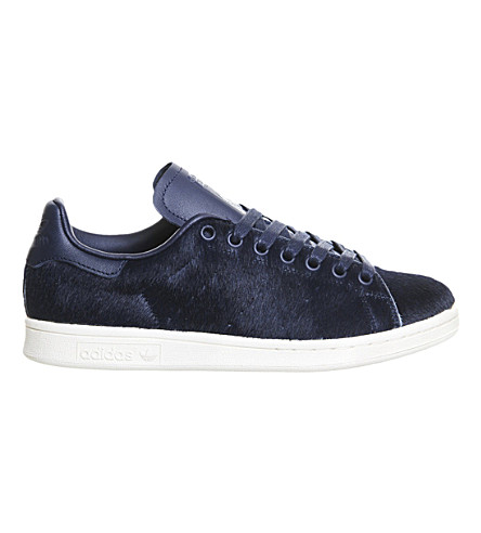 ADIDAS Stan Smith faux pony-hair trainers (Navy pony