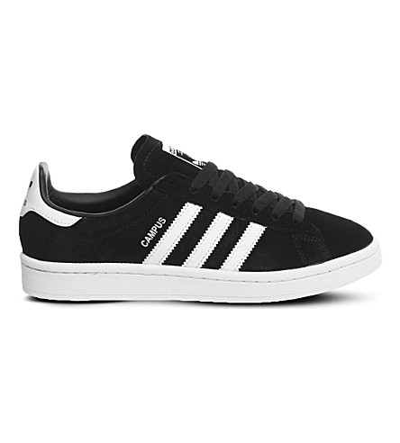 ADIDAS Campus suede trainers (Black+white